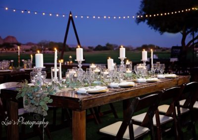 Under The Stars Outdoor Wedding Ceremony and Reception